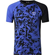Jeansian Hombre Camisetas Deportivas Wicking Quick Dry tee T-Shirt Sport Tops LSL133