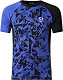 Jeansian Herren Sportswear Quick Dry Short Sleeve Men's Tee T-Shirt Tops Tshirt LSL193 Blue XL
