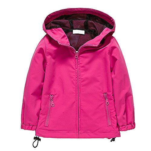 BOZEVON Girls Kids RainCoat Jacket Breathable Coats Windbreaker stylish Outwear