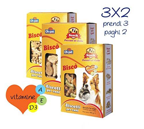 Biscotti per cani con vitamine per cani di piccola media e grossa taglia 3 confezioni ne paghi 2