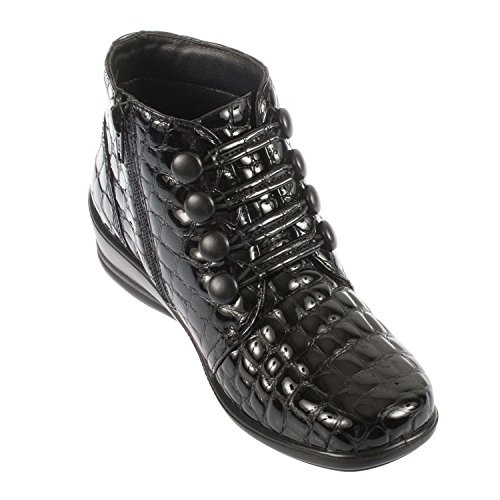 Padders Tanya, Damen Kurzschaft Stiefel Black/Croc