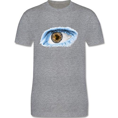 Länder - Auge Bodypaint Argentinien - Herren Premium T-Shirt Grau Meliert