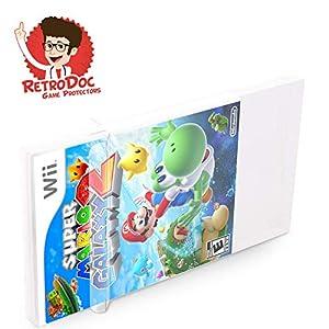 100 Klarsicht Schutzhüllen für Nintendo Wii Games in Originalverpackung – Passgenau und Glasklar – PET – Retro-Doc Game…