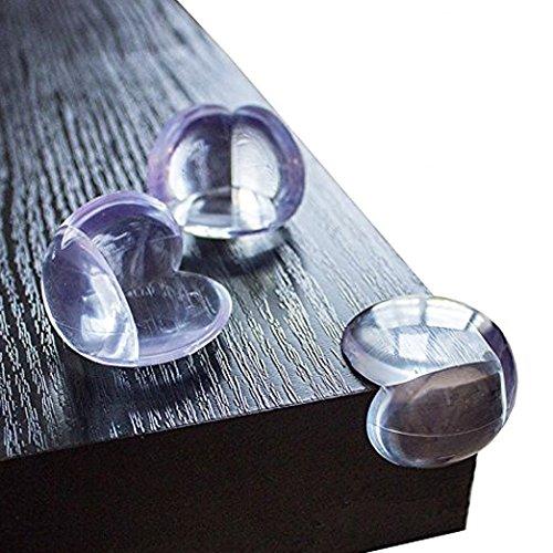 KIDUKU Premium Eckenschutz und Kantenschutz | 12 Stück | transparent aus Kunststoff für Tisch- und Möbel-Ecken | Stoßschutz für Baby's und Kinder -