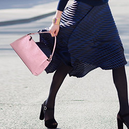 Sacchetto Di Spalla Del Sacchetto Di Crossbody Del Più Nuovo Dell'annata Di Goffratura Della Rosa Pink