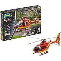 Revell Airbus Helicopters EC135 Air-Glaciers, Kit de Modelo, Escala 1:72 (4986) (04986), Color Rojo/Amarillo 14.3 cm de Largo (