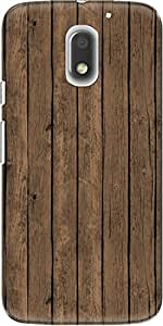 The Racoon Lean printed designer hard back mobile phone case cover for Motorola Moto E3 Power. (Brown Pain)