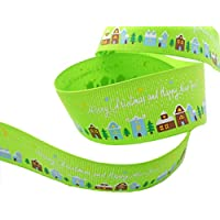 3 m di lunghezza Merry Christmas Happy New Year Arts & Crafts – grosgrain 22 mm – verde - New Baby Arrangement