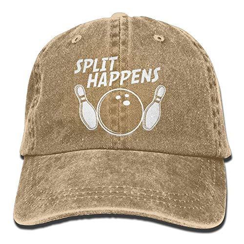 (rongxincailiaoke Split Happens Bowling Denim Baseball Caps Hat Sport Strap Cap)