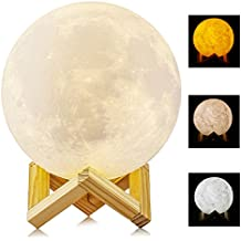 Lampada di Moonlight ALED LIGHT 6 pollici 15 centimetri Diametro Lunar Night Light Lampada dimmerabile 3 colori selezionabili Bedroom Decor USB Ricarica Mood Light per camera da letto Cafe