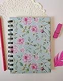 #9: Paperholic Design Studio Blue Powder Floral Design Pocket Notebook