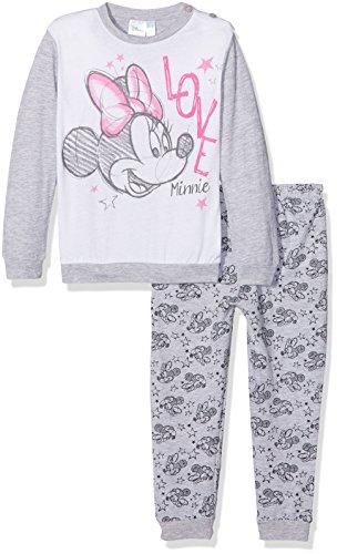 Disney Baby-Mädchen Schlafstrampler 45306S/AZ, Grigio (Grigio Mel), 86 cm (Hersteller Größen:18)