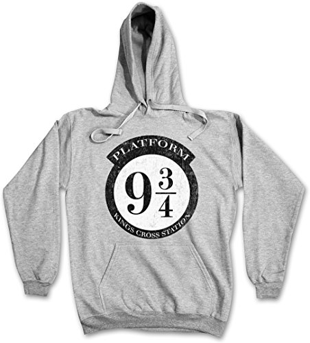 Platform 9 I Hoodie Hooded Pullover Sweater Sweatshirt Maglione Felpe Con Cappucio – Taglie S – 2XLHarry ¾ Ash