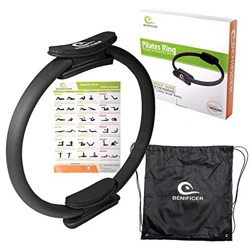 """Benificer Pilates Ring 14"""" Magic Circle für gezieltes Kräftigungstraining von Oberkörper, Arm und Bein Muskeln Ideal für Piltates Übungen, Yoga, Gymnastik"""