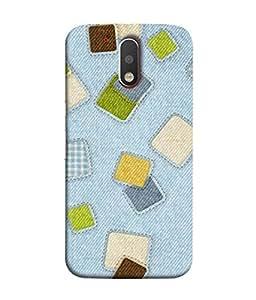 Fuson Designer Back Case Cover for Motorola Moto G4 :: Moto G (4th Gen) (Patches Multicolor Jeans College School Student)