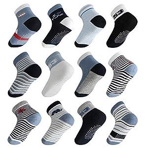 Licitn 12 Pares de Calcetines Antideslizantes para Bebés- Calcetines de Algodón de Bebés con Diseño Antideslizante para… 5