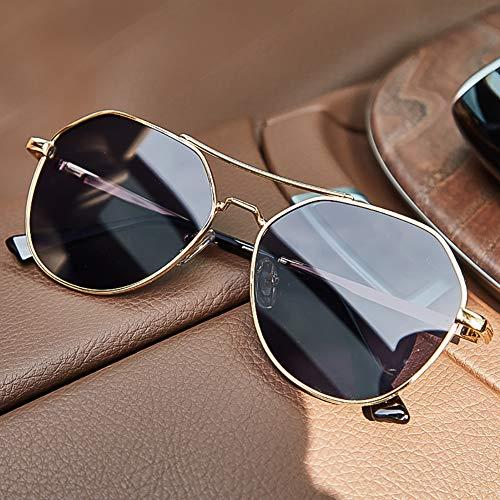 GJMB Polarisierte Sonnenbrille für männer Frauen uv-Schutz fahrbrille Vintage Herren Sonnenbrille,-Black