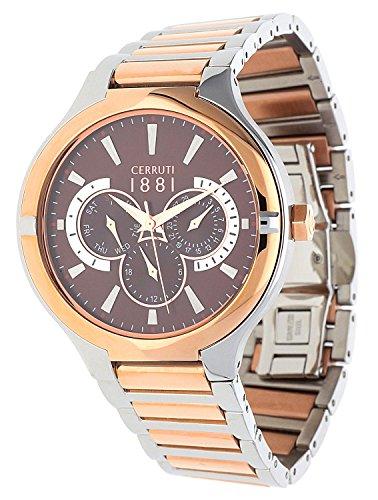 Cerruti 1881 Reloj Analógico para Hombre de Cuarzo con Correa en Acero Inoxidable CRA105STR12MRT