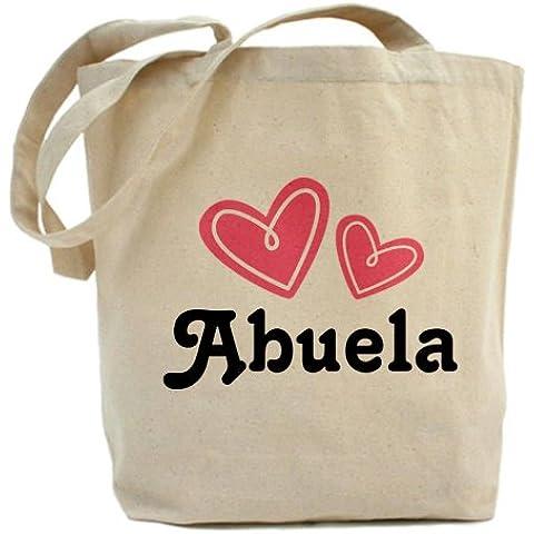 CafePress Bag-Borsa Tote Abuela cuore, colore: rosa - Cuore Canvas Tote