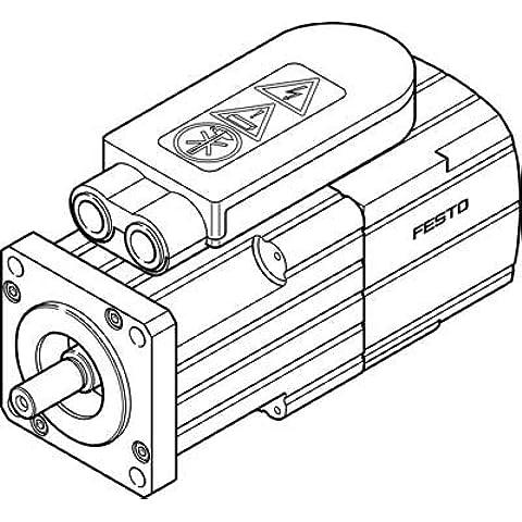 FESTO 1569762 EMMS-AS-55-S-HS-TSB SERVO MOTOR - SUPPLIED IN PACK OF 1