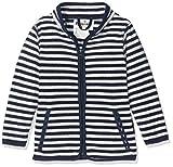 Playshoes Baby-Jungen Jacke Fleecejacke Maritim gestreift, Oeko-Tex Standard 100, Blau (Marine/weiß 171), 86