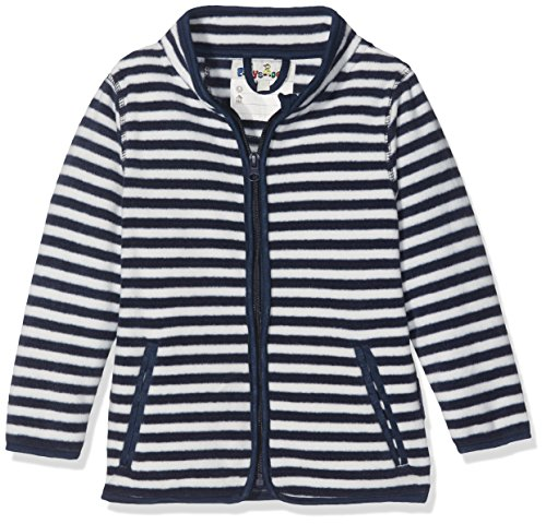 Playshoes Baby-Jungen Fleecejacke Maritim gestreift, Oeko-Tex Standard 100 Jacke, Blau (Marine/weiß 171), 80