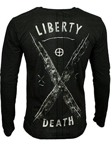 RELIGION Herren T-Shirt LIBERTY SKULL Black