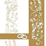 Sovie HORECA Serviette Hochzeit | Linclass® Airlaid 40x40 cm | Ehe Hochzeitsfeier Hochzeit | 50 Stück Gold