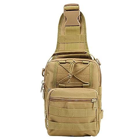 Shoulder Bag, TOPQSC Tactical Shoulder Bag Sling Chest Pack Crossbody
