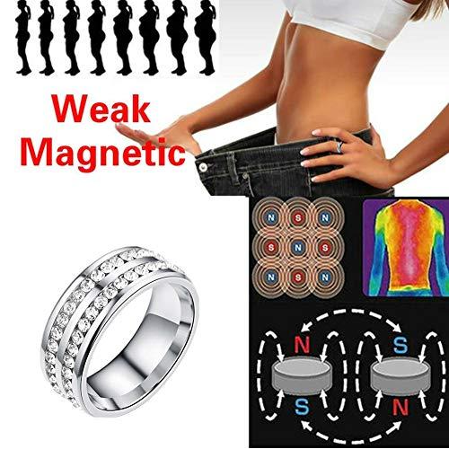 WESEEDOO Anillo magnético de la Salud Anillo Adelgazante Joyería magnética del Cuidado médico del Anillo de la pérdida de Peso