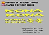 Ecoshirt 8O-ROEY-G1SU - Adesivi in Vinile Kona F122 per Decalcomania, per Mountain Bike, Colore: Giallo