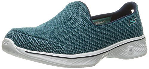 Skechers Women Go Walk 4 Trainers, Blue (Teal), 7 UK 40 EU