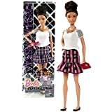 Mattel Year 2014 Barbie Fashionistas Series 12 Inch Doll Plum Plaid Teresa (Cln64) In White Top And Purple Plaid Skirt With A Dropped Ruffle Hem Plus Necklace And Purse
