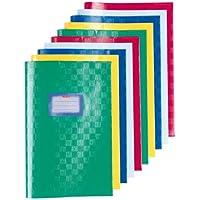 Herlitz 5204003 10er Packung Hefthüllen, A4, PP, Baststruktur, 100 my, farbig sortiert