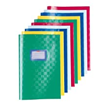 Herlitz Bast Structure A4 Exercise Book Cover - Assorted Colours (Pack of 10)