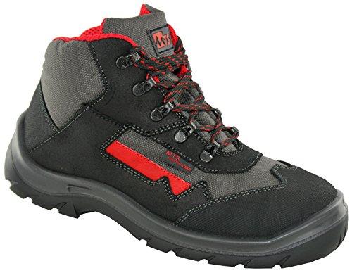 Preto Unisex Cinza S2 adult De Segurança Mts Melbourne 7153 Sapatos Vermelho 81O1w