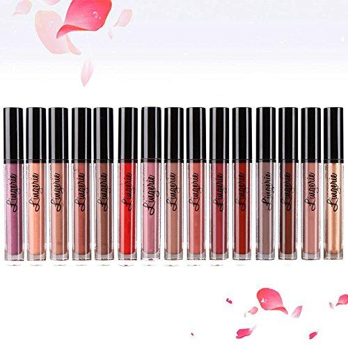 BOBORA 15 Farbe Nude wasserdicht Durable Lipstick Durable Matte Lip Gloss Set