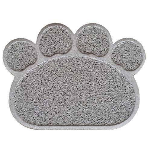 Heaviesk PVC Paw Print Pad Hund Katze Katzentoilette Haustier Kitty Dish Futternapf Tischset Anti-Skid Wasserdichte Schlafmatte -