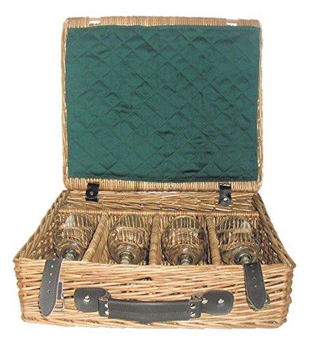 Red Hamper WH025/HOME Rouge Hamper WH025 / Home Fine Wine Présentation Boissons Panier, Brown, 38 x 44 x 13 cm Marron