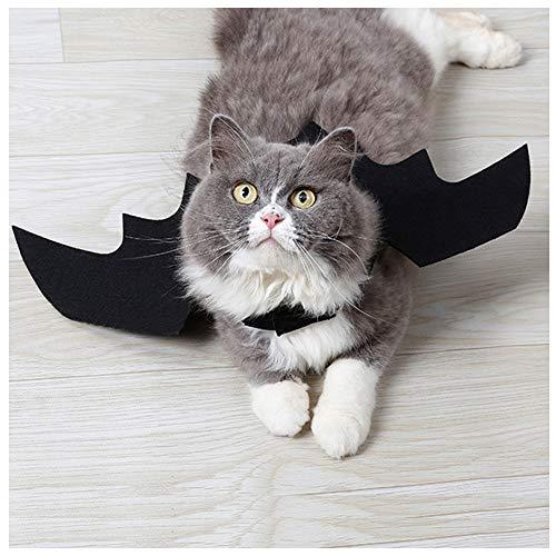Cuteboom Hund Kostüm Halloween Bat Wings Kostüm für Klein Katze Hund Weihnachten Kleidung, Bat (Kleiner Hund Fledermaus Kostüm)