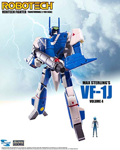 Toynami Robotech VF-1 Transformable Veritech Fighter Micronian MAX Sterling Figura