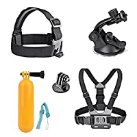 AKASO 7 in 1 Sports Camera Accessory Bundle Kits For Gopro Hero Sports Camera - Head Strap Chest Belt+ Folating Mount + Auto Suction Cup 7 in 1 Sports Camera Accessory Bundle Kits For Gopro Hero Sports Camera - Head Strap Chest Belt+ Folating Mount + Auto