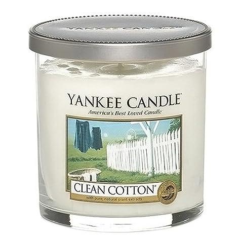 Yankee Candle Duftkerze im Glas Clean Cotton Baumwolle klein