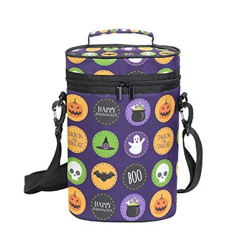 flaschen Kühltasche Halloween Symbol inkl. Wein-/Wasserflasche Tragetasche 2 Stück Wein Reisetasche ()