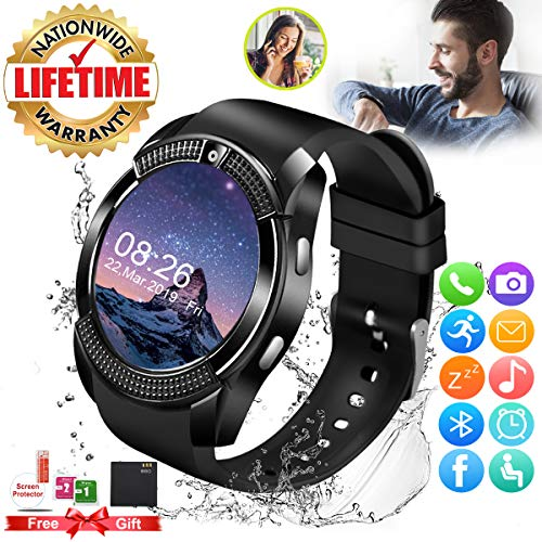 Bluetooth Smartwatch con Camera, Smart Watch Phone Touchscreen,Smart...