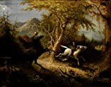 ODSAN The Headless Horseman Pursuing Ichabod Crane - John Quidor - Leinwanddrucke 16x13 Inch Ungerahmt