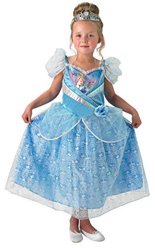 Rubie's Offizielles Cinderella-Kostüm, für Kinder, Glitzernd, Größe ()