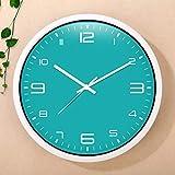 ZDD Wohnzimmer Schlafzimmer Wanduhr stumm große Flip-Chart dekorative Uhr (Farbe : Fruit Cyan, größe : Ø.35.5cm(ø14in))