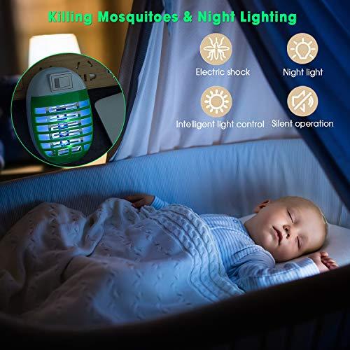 FISHOAKY UV Anti Moustique, Repulsif Moustique Tropical, Tue Mouche Electrique, 2 Paquets Prise Anti Insectes Electrique Bug Zapper pour Insectes d'intérieur, Inoffensif pour l'homme Animaux.