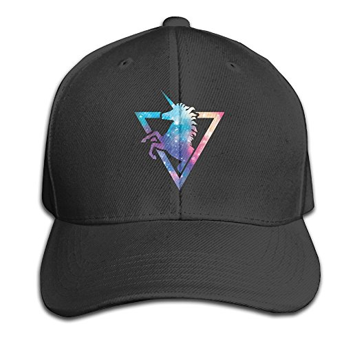 Galaxy Unicorn Adjustable Baseball Caps Unstructured Dad Hat 100% Cotton Black